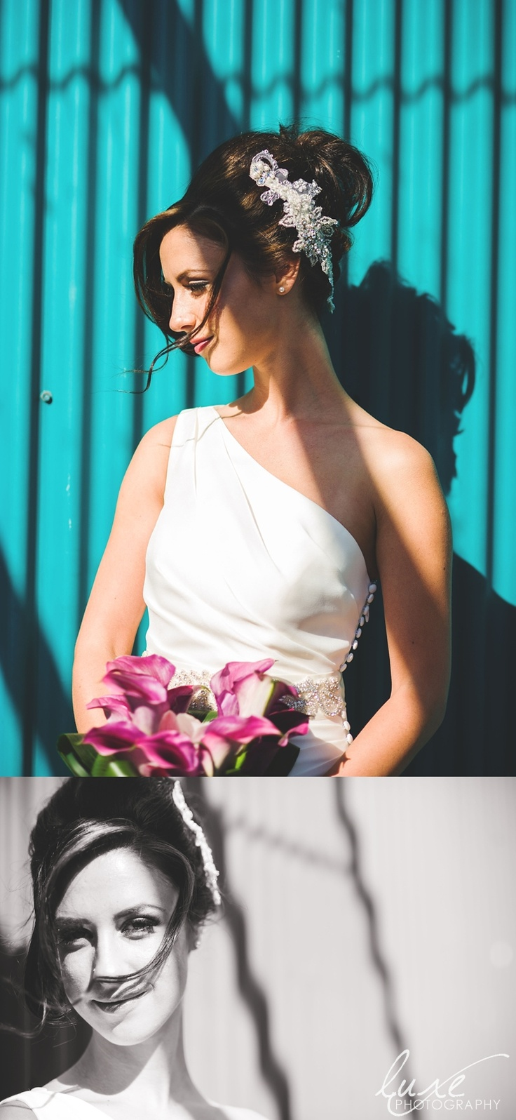 Bridal shots at Granville Island in Vancouver BC. Luxe Photography by Larissa Addison