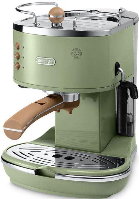 DeLonghi Icona Vintage ECOV 311.GR Groen  DeLonghi ECOV311GR Groen: Pompdruk espresso apparaat met vintage uitstraling De DeLonghi ECOV311GR is een groene pompdruk espresso apparaat die afgewerkt is in een groene hoogglans met chromen details. Hierdoorheeft de ECOV 311.GR een vintage uitstraling. Het apparaat beschikt over een roestvrijstalen boiler met een pompdruk van 15 bar en werkt zowel met gemalen koffie als ESE-servings. Daarnaast kan jij ook heerlijke cappuccino maken dankzij het…