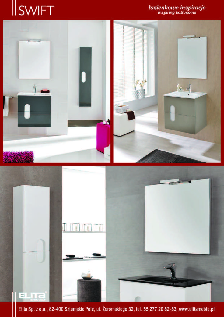 #swift #ulotka #elita #meble #elitameble #lazienka #furniture #bathroom