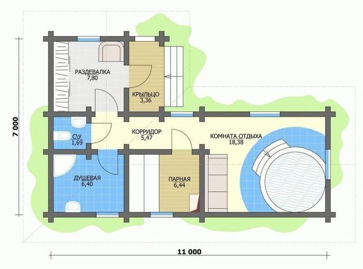 Проект бани с бассейном №2