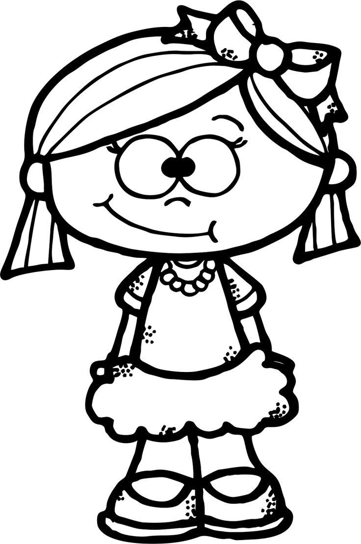 WorksheetJunkie: Cute girl Clipart Freebie