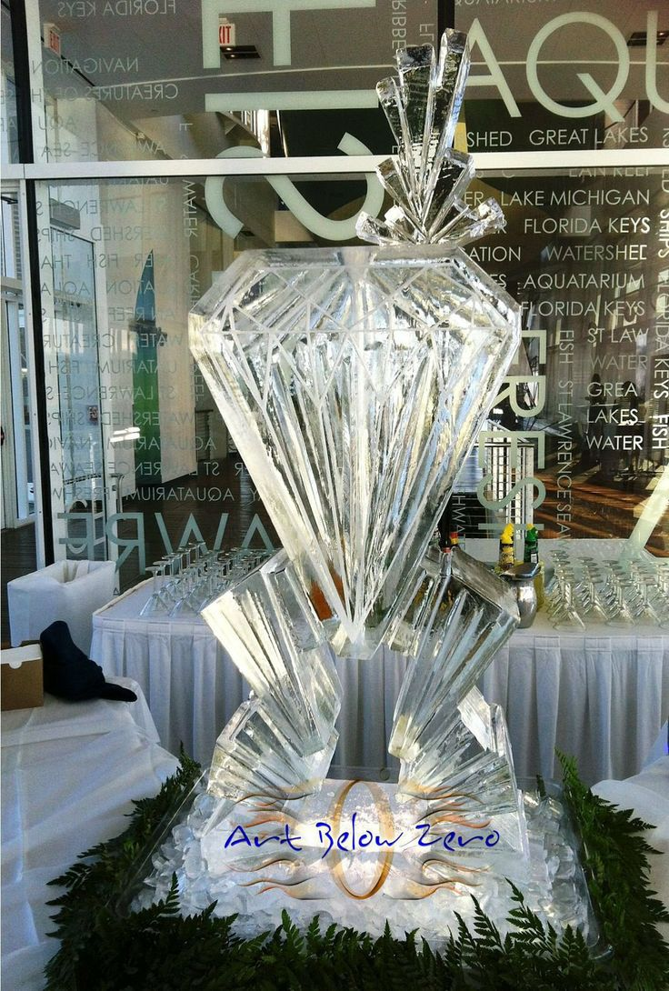 Diamond Martini Luge Ice Sculpture