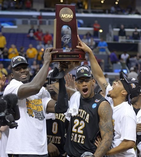 Image result for wichita state basketball regional champs