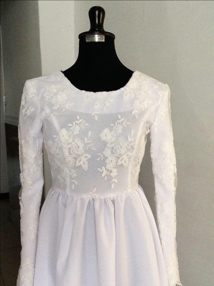 White temple dress lds modest