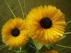 Cara membuat bunga matahari yang cantik dari sedotan plastik