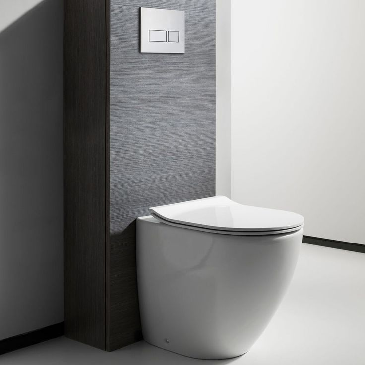 white toilet with black seat. Bauhaus Svelte Back to Wall Toilet with Soft Close Seat  520mm Projection Best 25 wall toilets ideas on Pinterest Concealed