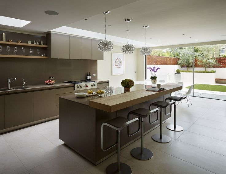 Family Kitchen Design Ideas Part - 47: Modern Family Living: Kitchen Architectureu0027s Bulthaup Furniture In Clay  Matt Laminate And Silestone Work Surface In Suede Finish, With Natural Oak  Breakfast ...