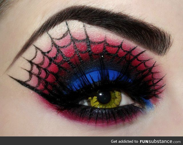 best 25 spiderman makeup ideas on pinterest superhero makeup superhero halloween costumes and pretty girl face - Eyeshadow For Halloween