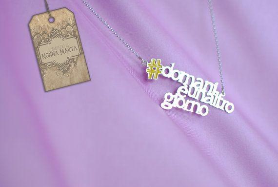 Betag l'hashtag gioiello che parla di te. Fatto a mano per L'Armadio di Nonna Marta, €35.00