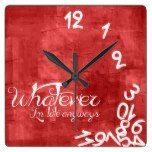whatever, I'm late anyways - Rustic Red Wall Clock  #Anyways #Clock #I&#039m #late #Rustic #RusticClock #Wall #Whatever The Rustic Clock