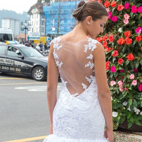 Wunderschöne Meerjungfrau Spitze sexy Hochzeitskleid