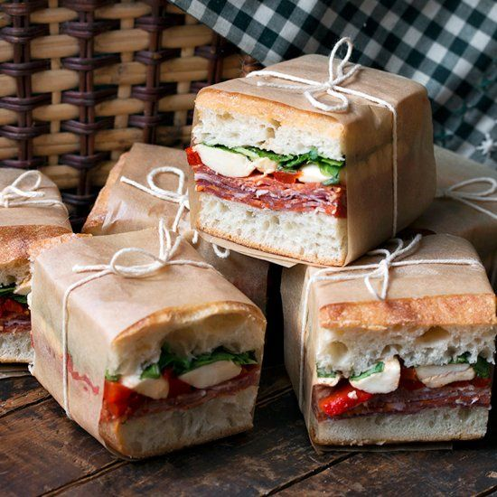 Pressed Italian Sandwiches - Summer picnic perfect!