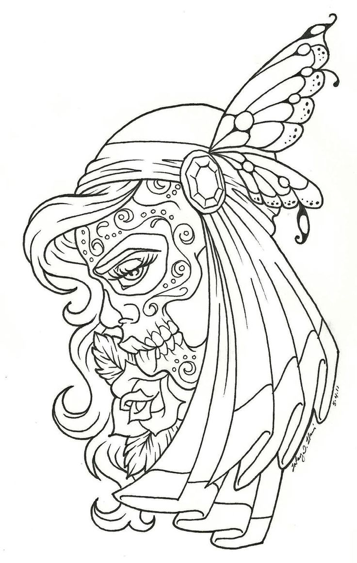 Coloring book outlines - Day Of The Dead Children Day Of The Dead Coloring Page Coloring Pages