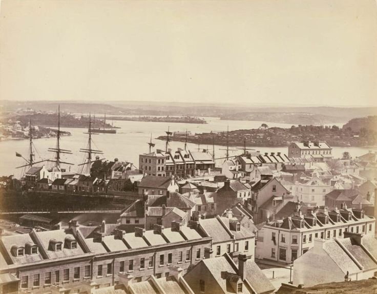 View of what is now Barangaroo Point and Kent Street