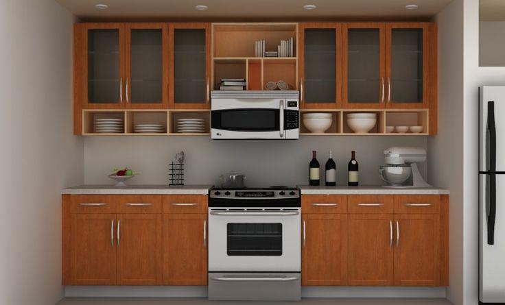 Кухня Роскошные Ikea дизайнерские открытая стена Стеллажи Идеи с плавающей деревянный кухонный шкаф Также Plate Rack ящик и Белого столешницы с деревянными ящиками и кабинета Также плита и духовка Впечатляющие вдохновляет кухонная стенка Стеллажи Идеи