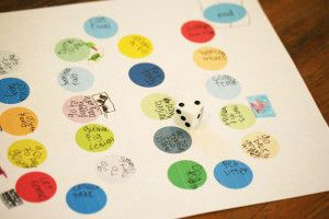 """sparkle crafts – """"Martin & Sylvia"""" board game  just use dot stickers.  to go with Munchkin's paper airplane game?"""
