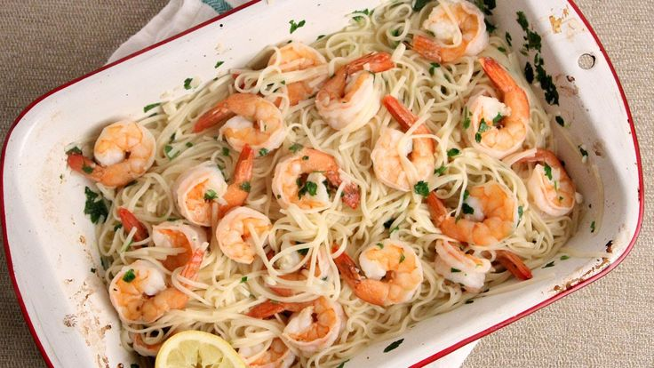 10 Minute Oven Roasted Shrimp Scampi Recipe - Laura Vitale - Laura in the Kitchen Episode 1005 - YouTube