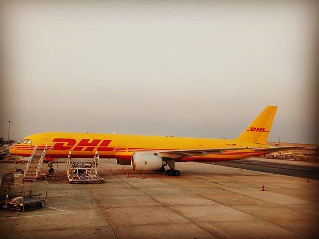 DHL cargo resting #777 #cargo #lisbonairport #dhl