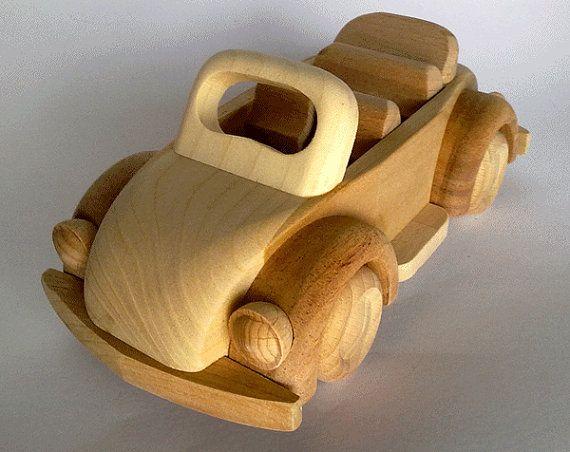 Handcrafted Wooden Car Volkswagen VW Beetle Cabrio  Eco