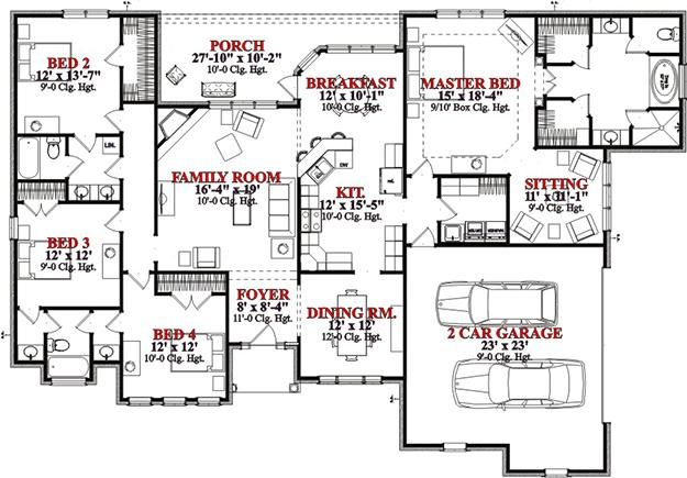 5182 best images about floor plans and houses on pinterest for Attached garage plans with bonus room