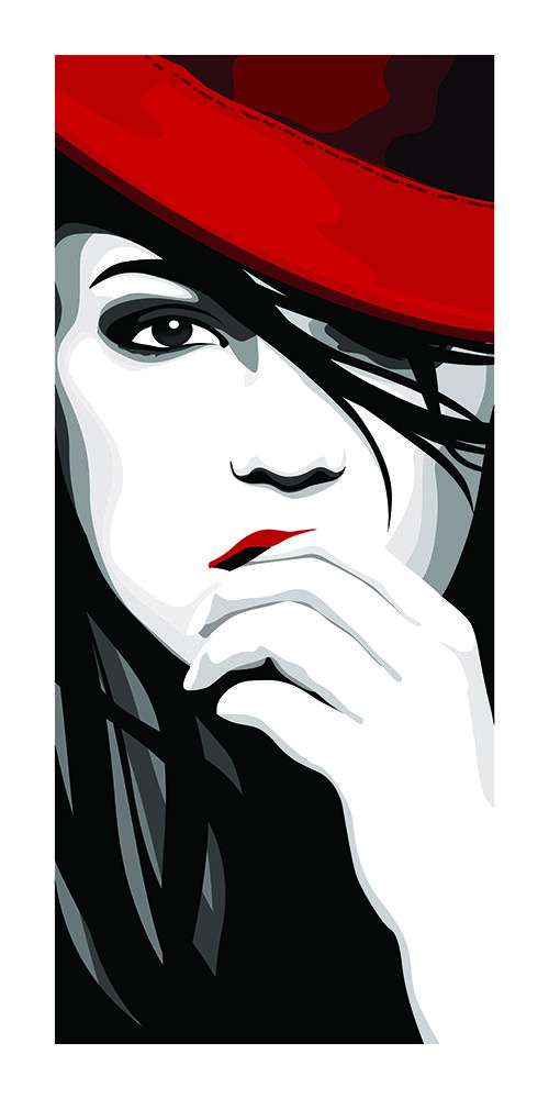 #Poster #Kunstdruck Fine #Art #Print Chao Zhang Red Hat Twenty Four #Gallery #illustration #chaozhang #artprint #twentyfourgallery