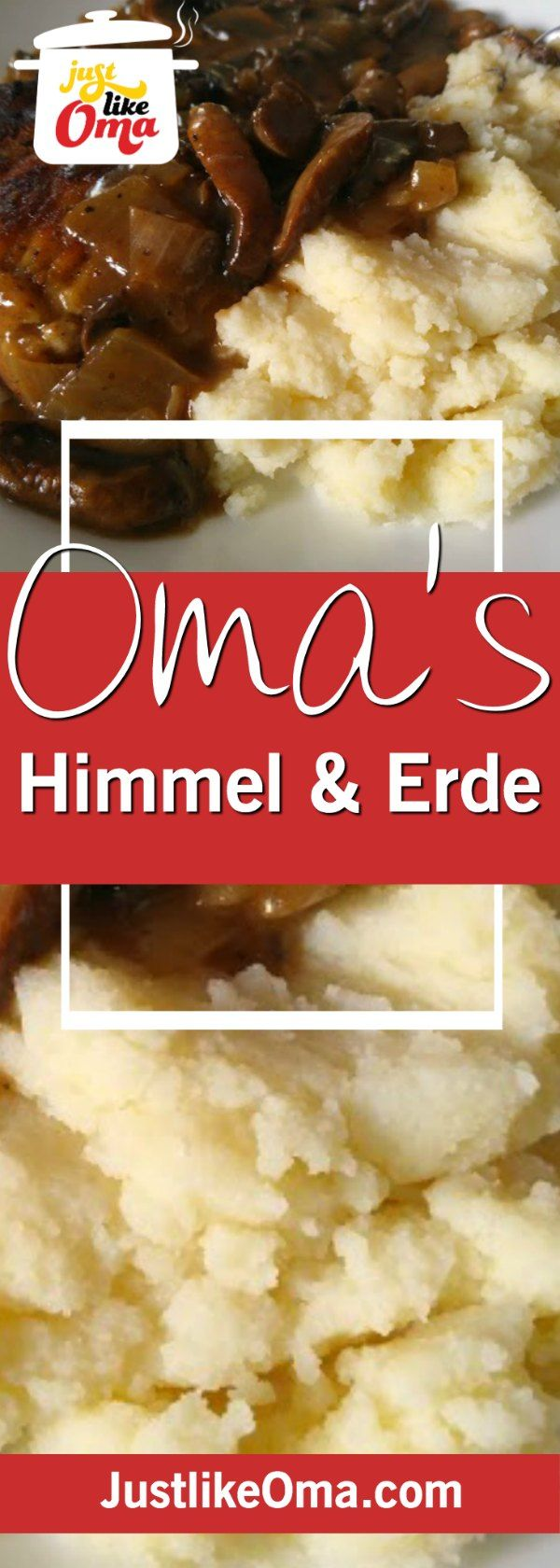 Himmel und Erde, aka Heaven and Earth, combining apples and potatoes. DELICIOUS and SO German! ❤️ http://www.quick-german-recipes.com/himmel-und-erde.html