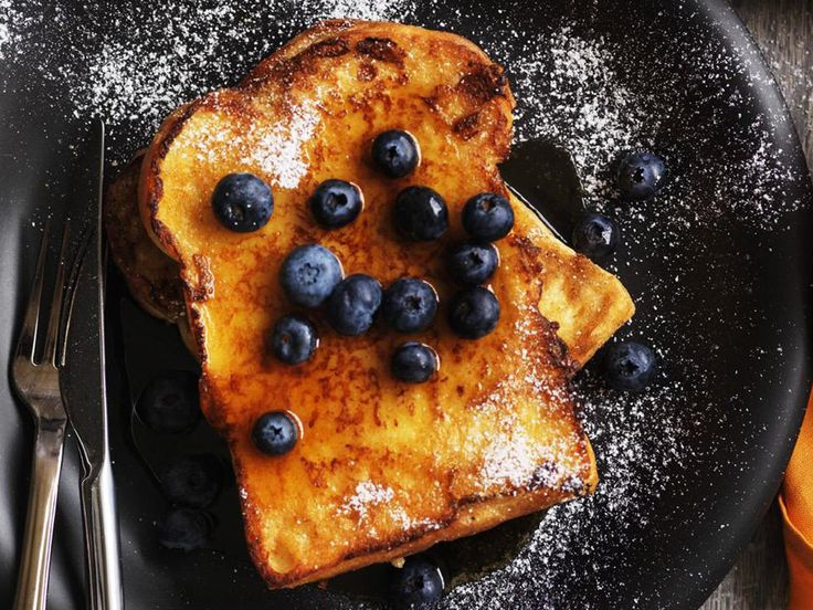 Is there anything better than French toast for a weekend breakfast? We can't think of much. For best results use real maple syrup, and if you like, serve it topped with fresh blueberries.