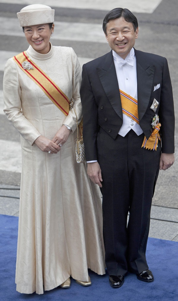 Crown Prince and Princess of Japan at the Investiture of King Willem Alexander.