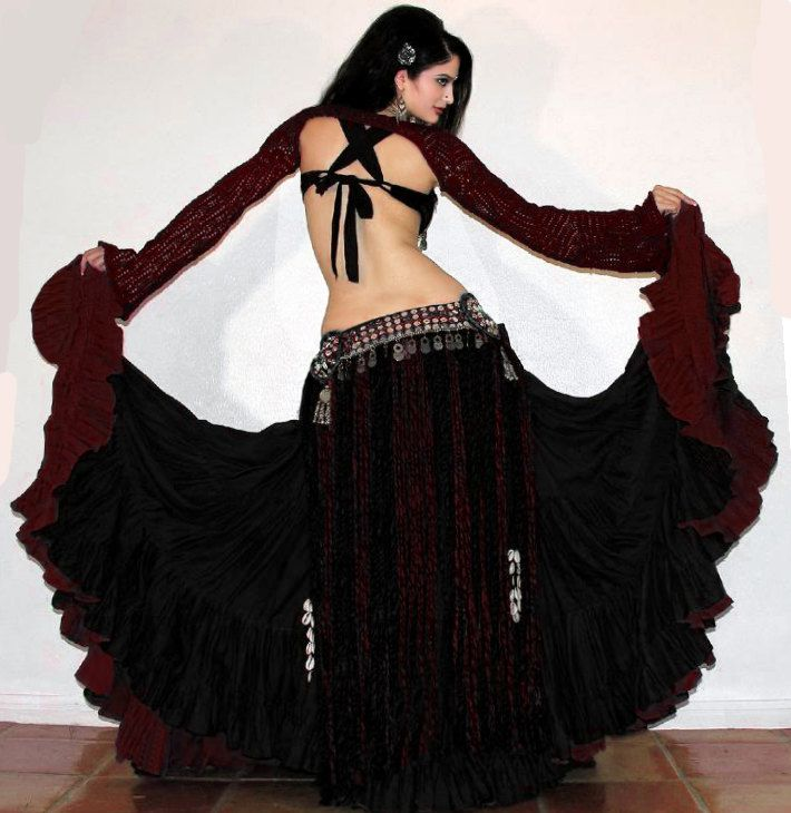 tribal belly dancing skirts | Scarlet's Lounge Tribal Belly Dance Reversible 25yd Cotton Gypsy Skirt