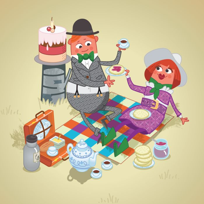 """Picnickers from my book, """"Wood Cake"""" by Luke Seguin-Magee"""