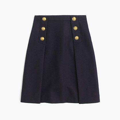 Sailor skirt in double-serge wool
