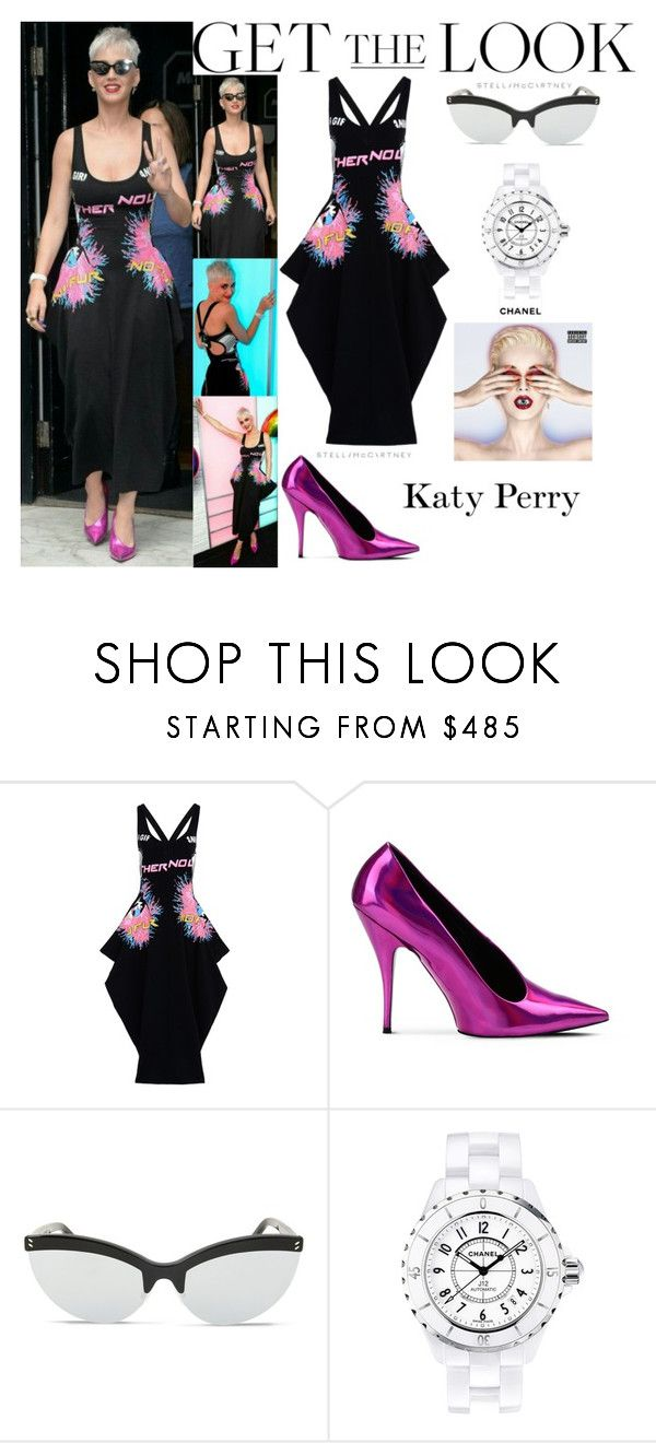 """Katy Perry Kiss Radio Station In London UK June.23.2017"" by valenlss ❤ liked on Polyvore featuring STELLA McCARTNEY and Chanel"