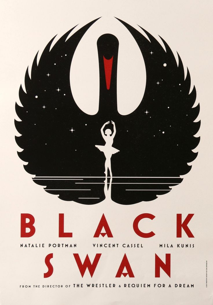 "Film: Black Swan (2010) Year poster printed: 2010 Country: Switzerland Size: 16.5"" x 23.25"" Art: La Boca This is a vintage Swiss advance movie poster from 2010 for Black Swan starring Nathalie Portman"