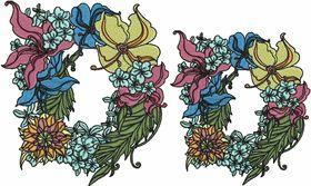 Exotic Flowers Font - Letter D