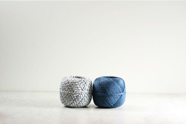 Linen Twine Blue