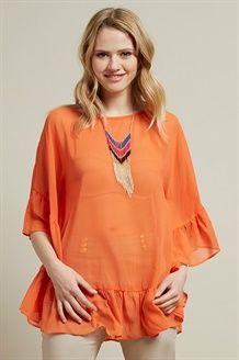 Blusa e Collana<br>Mandarino