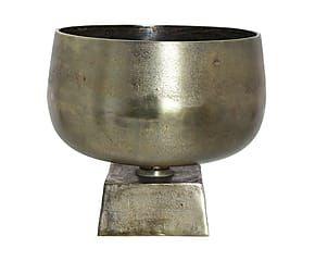 Schaal Halden, brons, H 30 cm