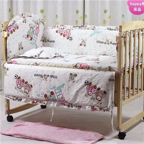 5Pcs baby crib bedding set kids bedding set 100x60cm newborn baby bed set crib bumper baby cot set baby bed bumper Free shipping
