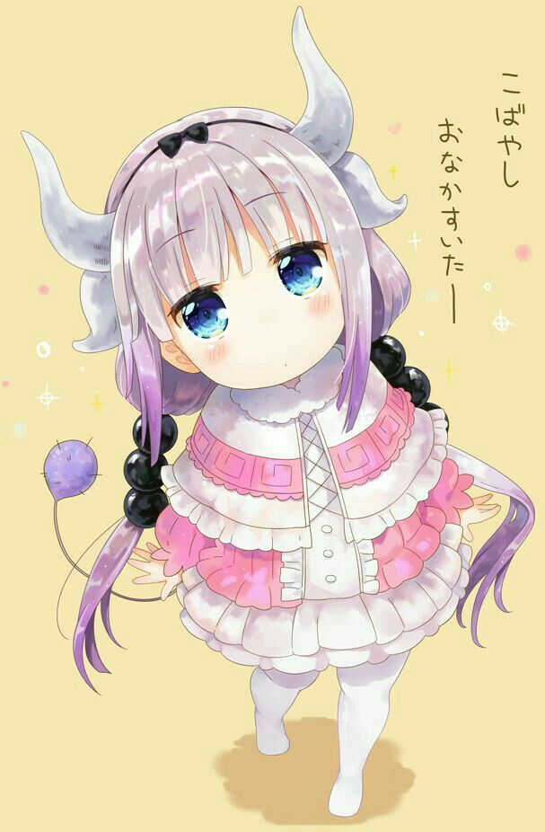 Kanna, Kanna Kamui, Kobayashi-san Chi no Maid Dragon, kawaii, monster girl, dragon