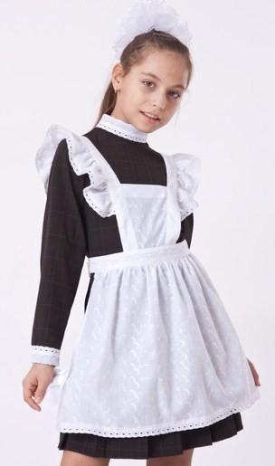 Школьное платье с фартуком для девочки напрокат