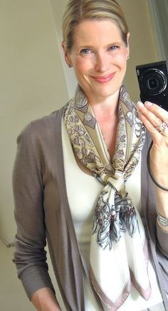 Classy Clothes for Over 50 | CLASSY LOOK WITH SCARF OVER 50