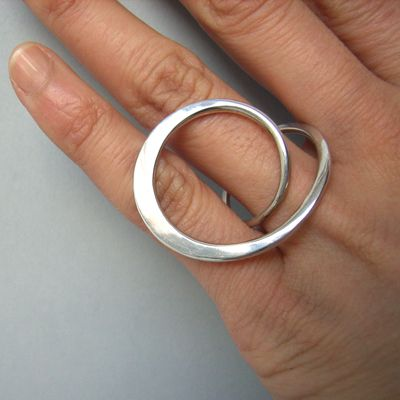 silver forged ring by Yuki Kamiya