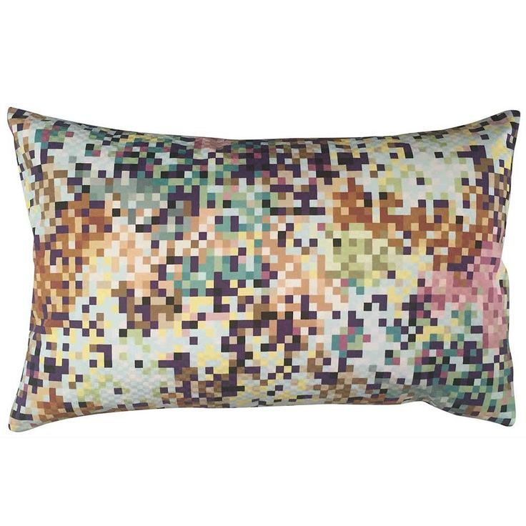 Missoni cushion in Pixel Aqua and Copper 50x30 cm