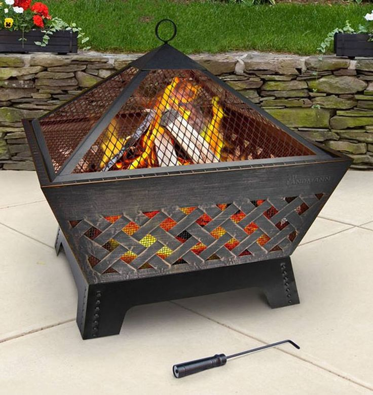 Fire Pit Landmann Barrone in Antique Bronze with Cover – Review