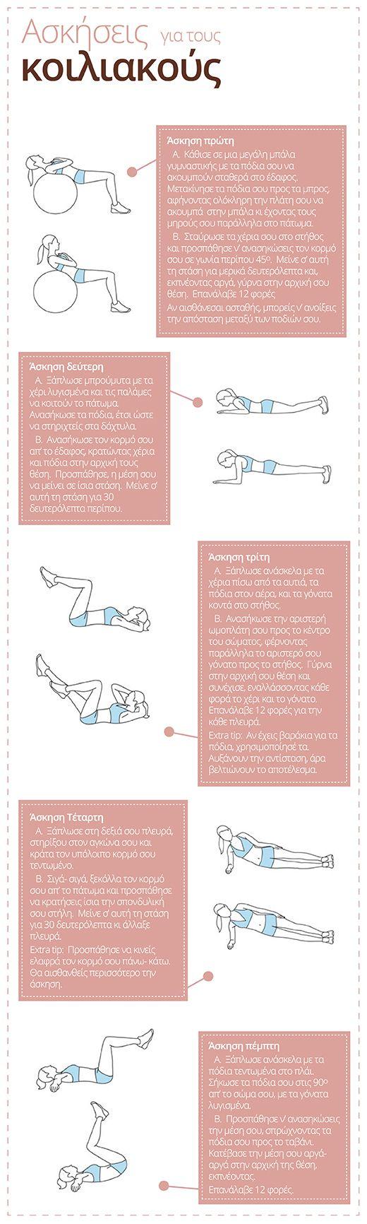 Ασκήσεις Για Κοιλιακούς / Abdominal Exercise Routine