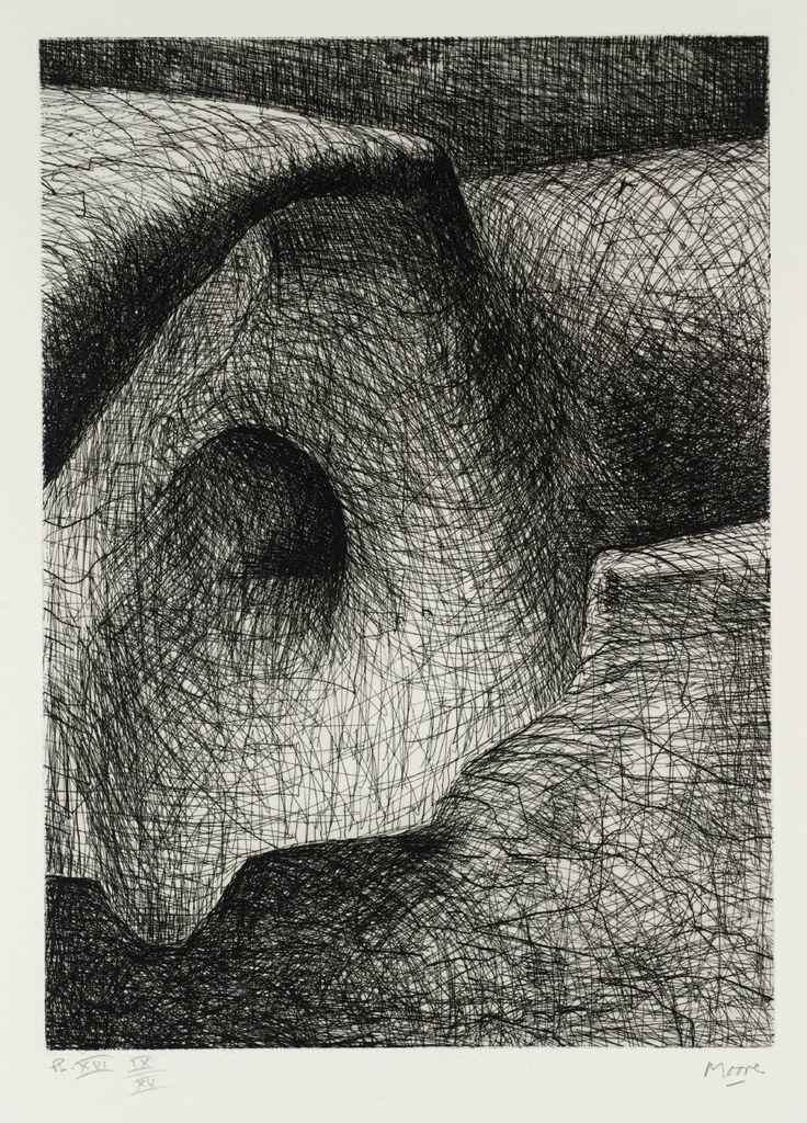 Henry Moore OM, CH 'Elephant Skull Plate XVI', 1970