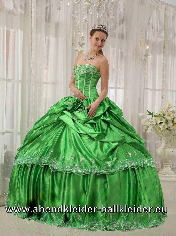 Hell Grünes Wolumen Kleid Ballkleid Abendkleid Brautkleid