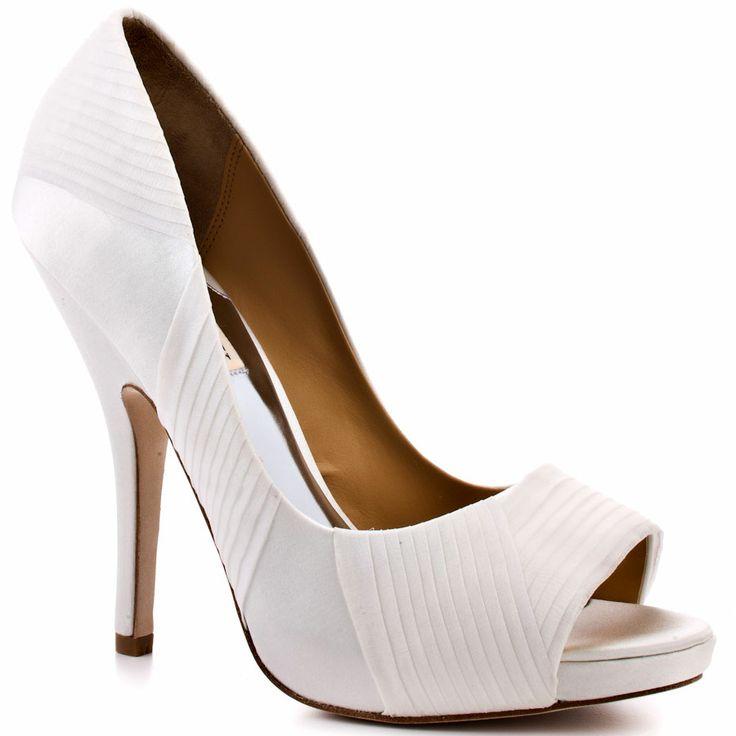 Badgley Mischka's White Wayde - White Satin for 224.99 direct from heels.com