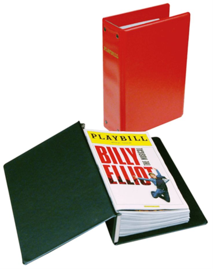 The Basic Playbill Binder is the economical solution for storing and organizing your Playbill collection. Please note, the Basic Binder is not a three-ring binder like the Ultimate Playbill Binder or the Universal Playbill Binder. Playbills are held...