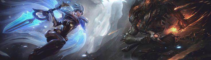 Surrender at 20: Dawnbringer Riven and Nightbringer Yasuo Art